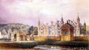 Harlaxton Manor, watercolour by Anthony Salvin