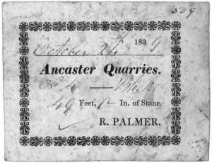 Ancaster Quarries Receipt