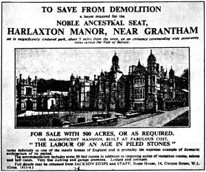 Demolition advert