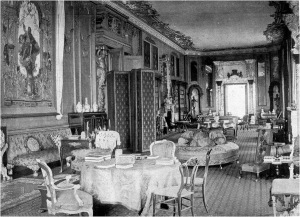 The Long Gallery in Pearson Gregory era from The Ladies Field, 10 March, 1906