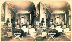The Long Gallery: a stereograph dated late 19th century