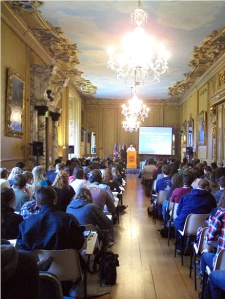 A British Studies lecture taking place in the Long Gallery