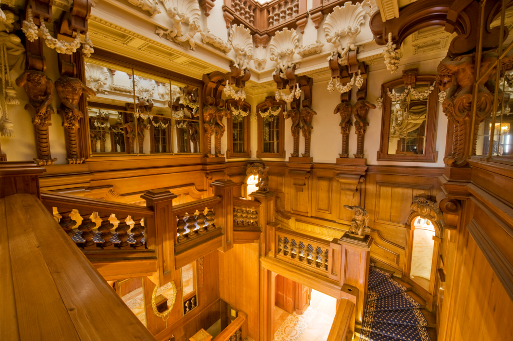 Cedar Staircase Harlaxton Manor Archives