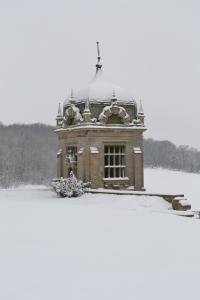 Snowy gazebo by Linda Dawes, 2013