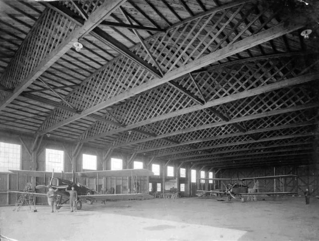 Interior of hanger 012