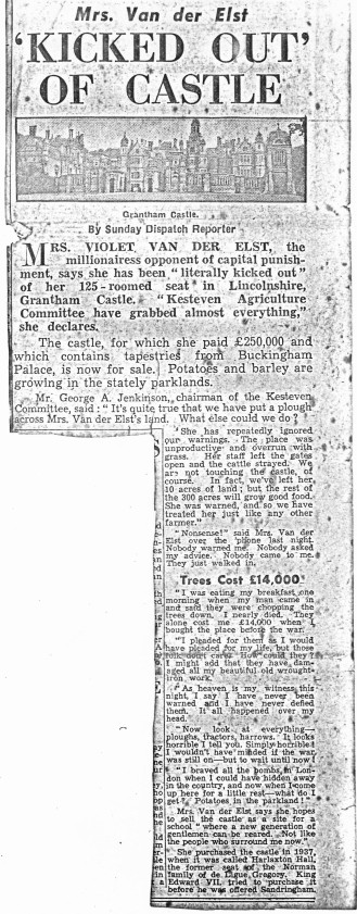 Kicked out of Castle Newspaper Clipping