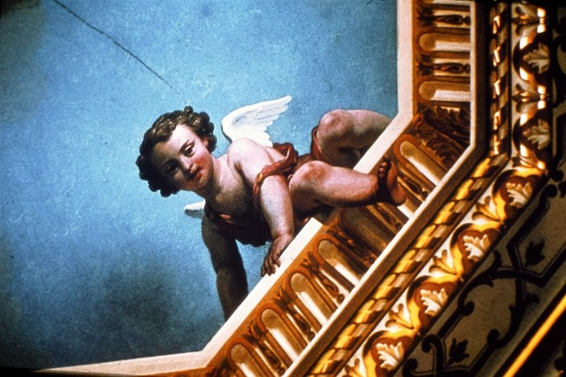 Detail of Gold Room ceiling cherub