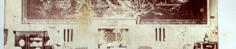 Tapestry Room. From a Gregory family album, 1855-60.